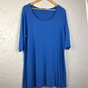 Eileen Fisher Ballet Neck Jersey Dress 3X